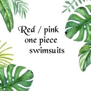 RED AND PINK ONE PIECE SWIMSUITS
